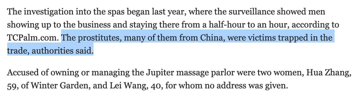 ^^^ Oh yeah and here&#39;s one of many sources stating the girls in the the Kraft/Jupiter &#39;spa&#39; were from China, justsayin &gt;&gt;  https://www. sun-sentinel.com/local/palm-bea ch/fl-ne-robert-kraft-prostitution-arrest-20190222-story.html &nbsp; … <br>http://pic.twitter.com/Bfc8oZ1u7S