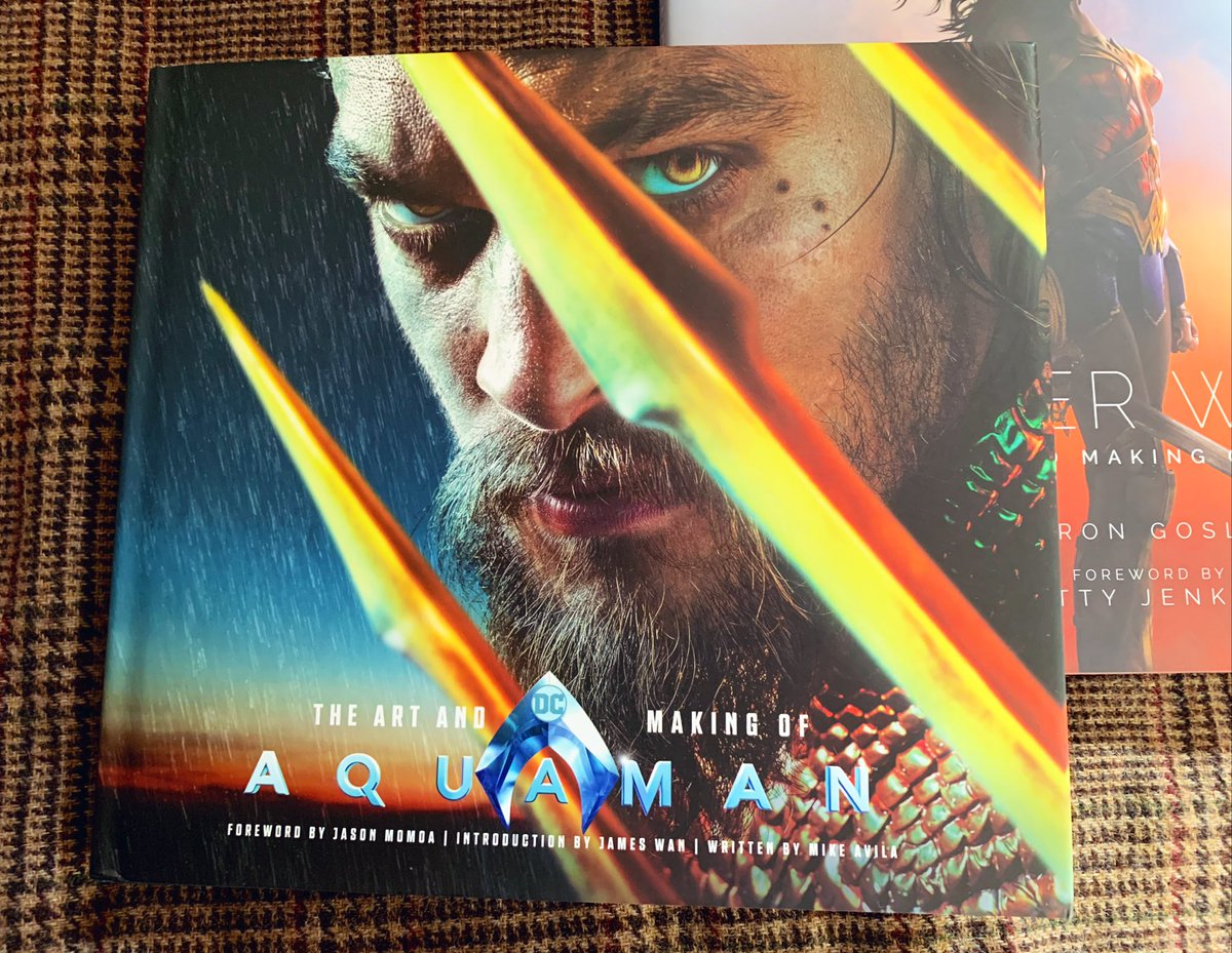 映画が面白かった余韻で買ったアクアマンの画集がやっと届いた✨ やっぱり海の世界はとても綺麗…♡