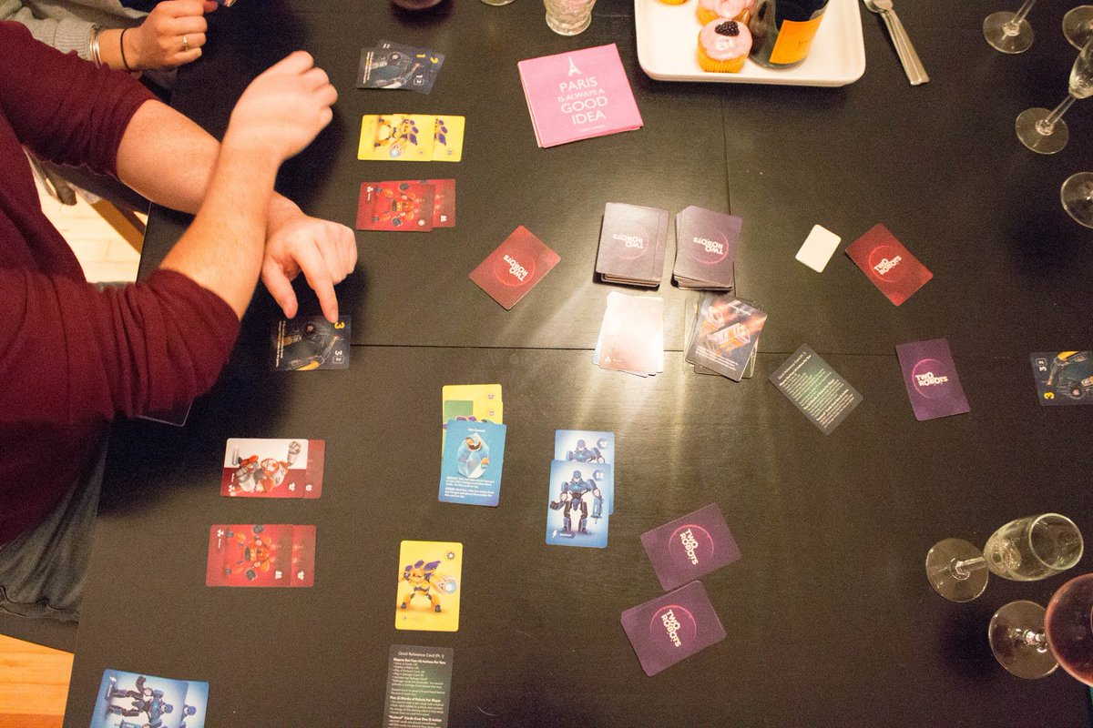 Sharing cards during 2V2 mode is the closest thing to a relationship I will ever get. http://bit.ly/TwoRobots   #tabletopgame #tabletopgames #tabletop #boardgamegeek #bgg #gamedev #indiegame #indiegamedev #indiegames #gamenight #cardgames #boardgame #boardgames #boardgaming