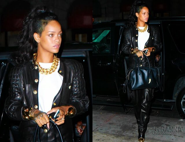 #rihannaBirthdayOutfit   Nov 8th.   #Rihanna is screaming Scorpio in this outfit<br>http://pic.twitter.com/4VnG66f6D0