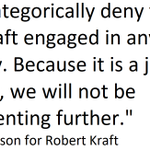 Image for the Tweet beginning: Robert Kraft Statement: Attached.#BreakingNewsNow #Breaking_News