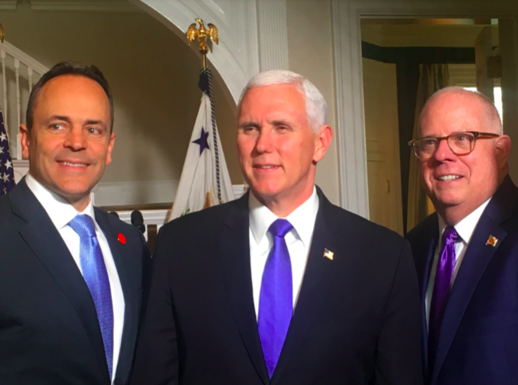 Today, I was honored to attend lunch hosted by former fellow governor of Indiana, @VP Mike Pence.