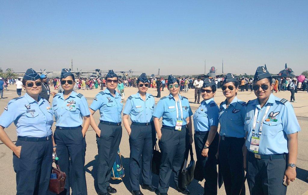 The team... nation banks upon...  #womeninaviation  #AeroIndia2019   @SpokespersonMoD  @DefenceMinIndia @AeroIndiashow