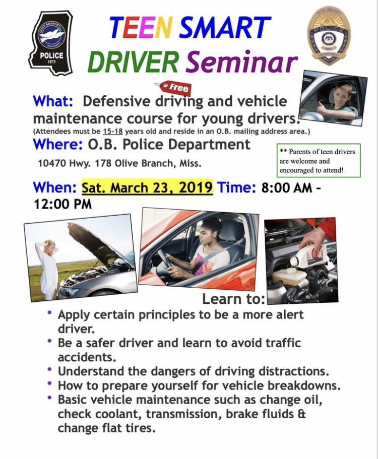 Teen Smart Driving >> Olive Branch Police On Twitter Parents Don T Miss The