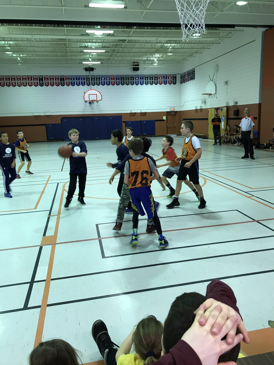 Great basketball game for the grade 5's today. Off to the semifinals 🏀. #teamwork #derozanisback #tigers #sportsmanship