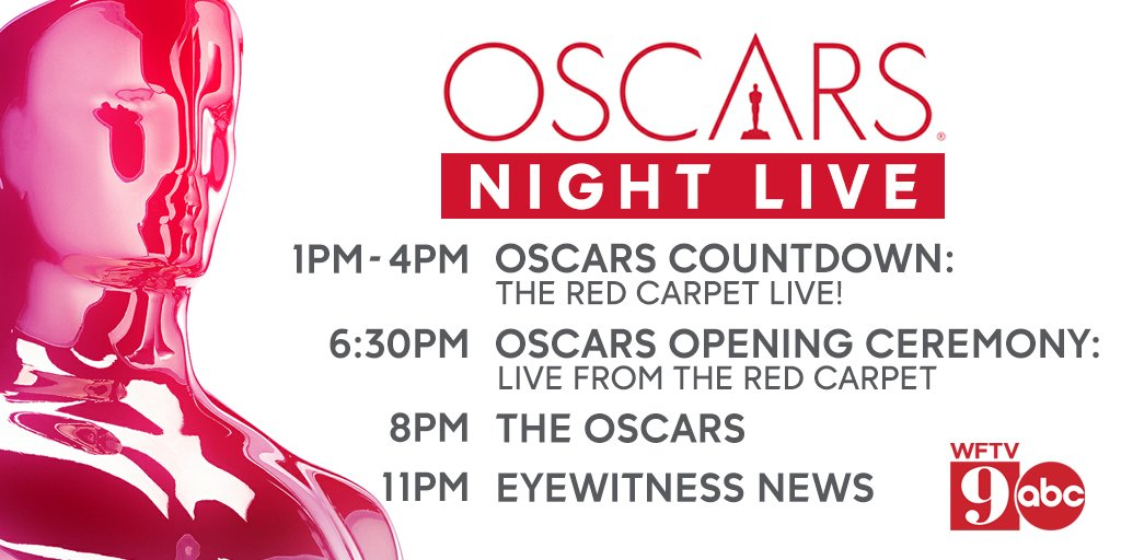 Get ready for the #Oscars on Sunday.  @WFTV has you covered!  It all starts at 1pm with an Oscars Countdown:  The Red Carpet Live! on #wftv. #orlando #academyawards  @ABCNetwork
