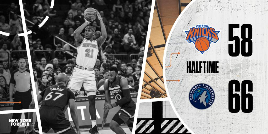 Halftime.  @wholeteamDot: 20p @ISO_ZO: 13p @DeAndre: 9p | 8r