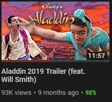 I legit had no idea that an aladdin movie with Will Smith was coming out in 2019... I CALLED THE FUCK OUT THIS MOVIE THOUGH HAHAHA <br>http://pic.twitter.com/W3lOBtF5Hq