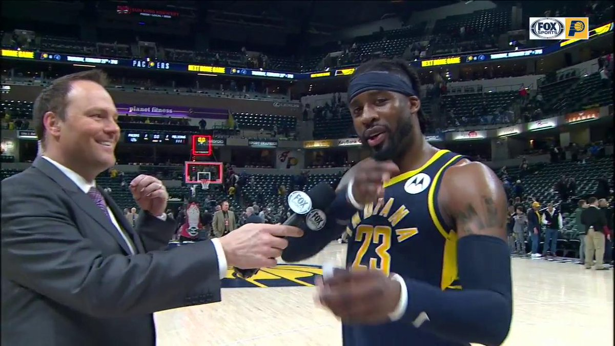 """Wesley Matthews on the @Pacers victory: """"We have a lot to play for. We know that this team has a lot of potential, a lot of positive things surrounding it."""""""