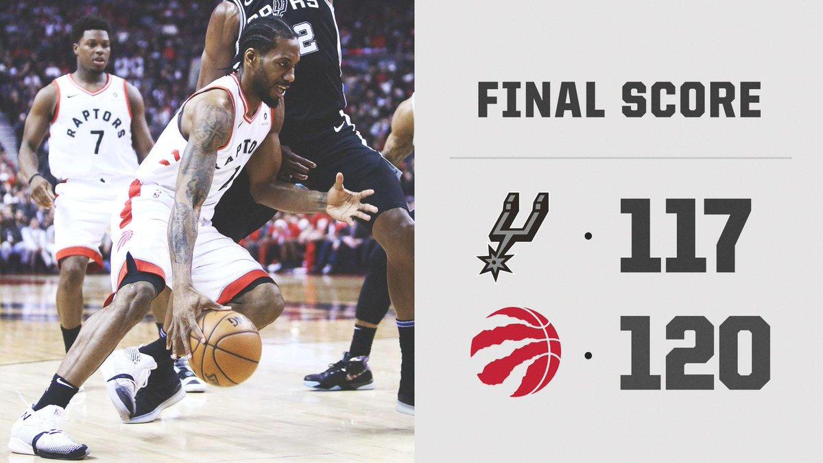 Kawhi leads the Raptors to a win in DeRozan's return to Toronto 💪