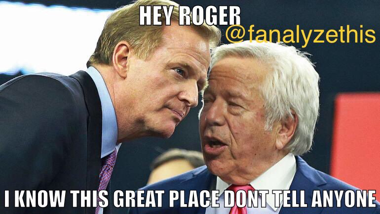 We all know who told! 😂😂😂 #kraft #sports #comedy #podcast #nfl #goodell #funny #patriots #tmz #fanalyzethis #barstool