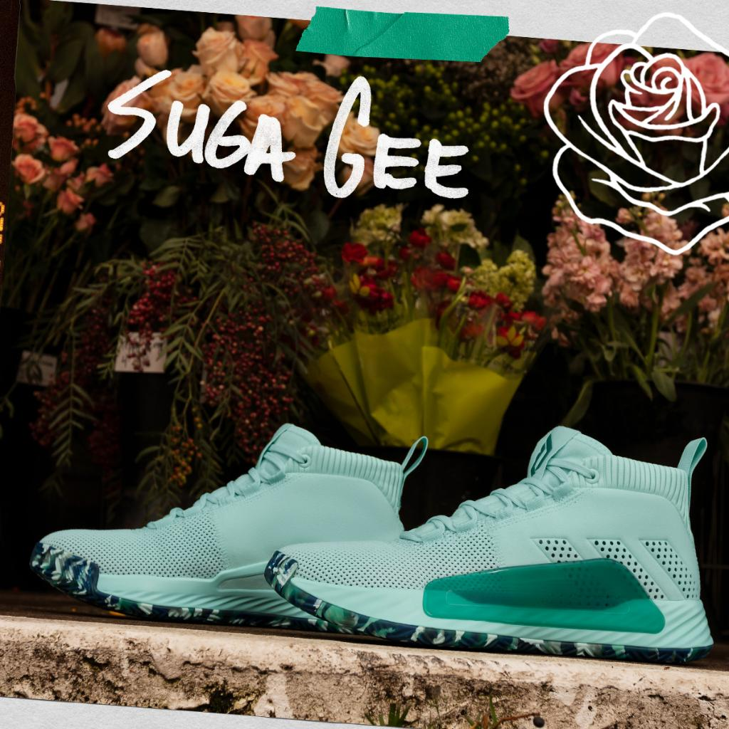 brand new cef6a 26b1d inspired by his mom s favorite color the adidas dame 5 suga gee drops on 3