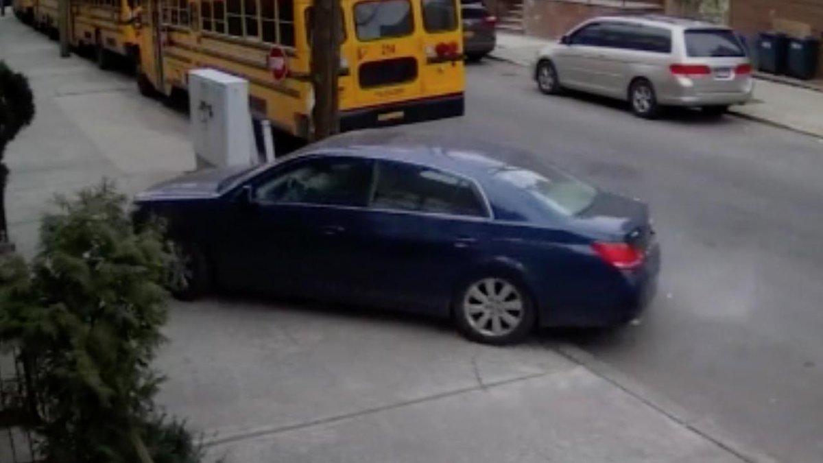 As students exit buses, impatient  driver uses sidewalk https://t.co/LHjrHvie6m