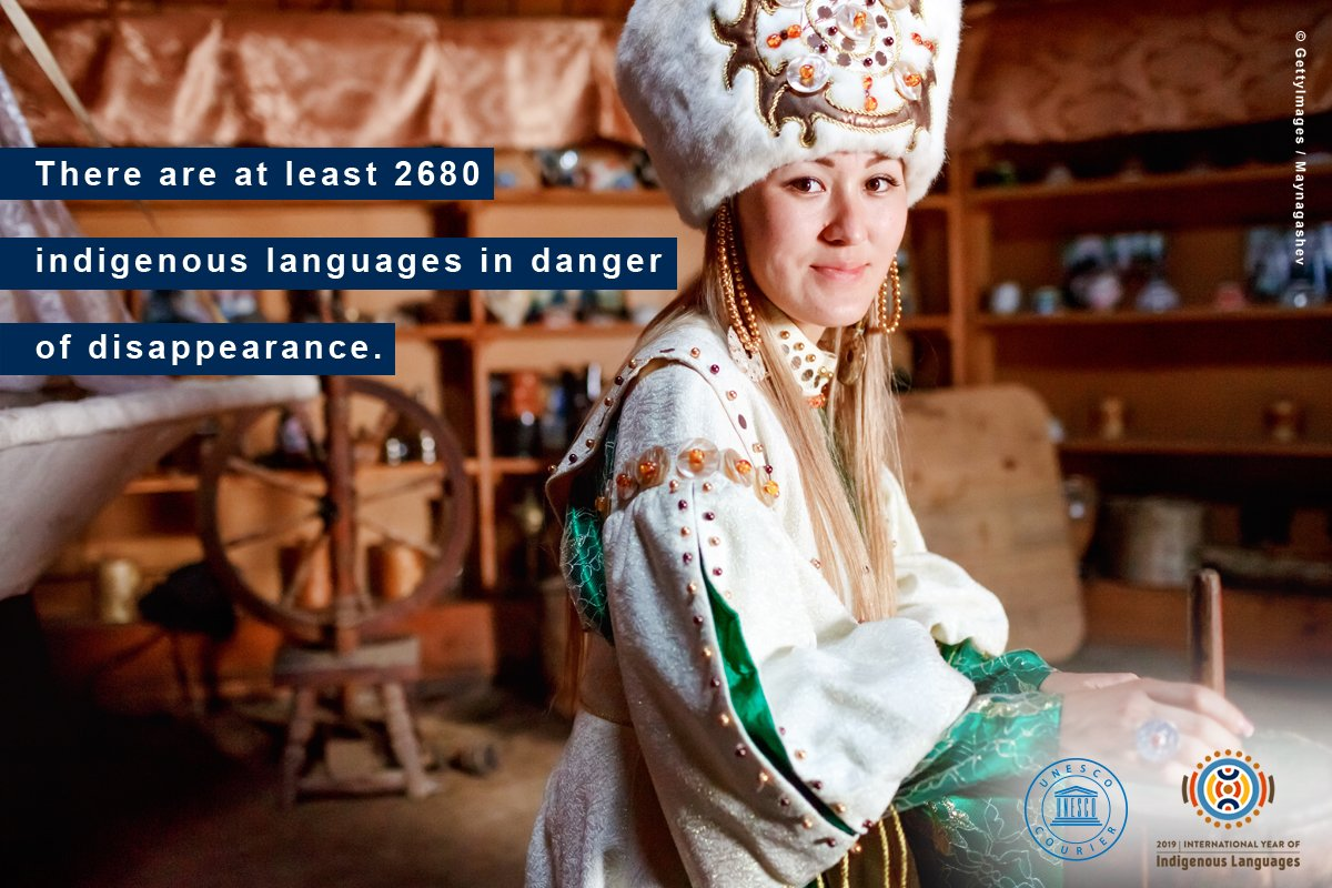 Around 2,680 #IndigenousLanguages are in danger of disappearance.  Learn more in the @UNESCOCourier.  https://t.co/HMOxRPW4Qh  #WeAreIndigenous