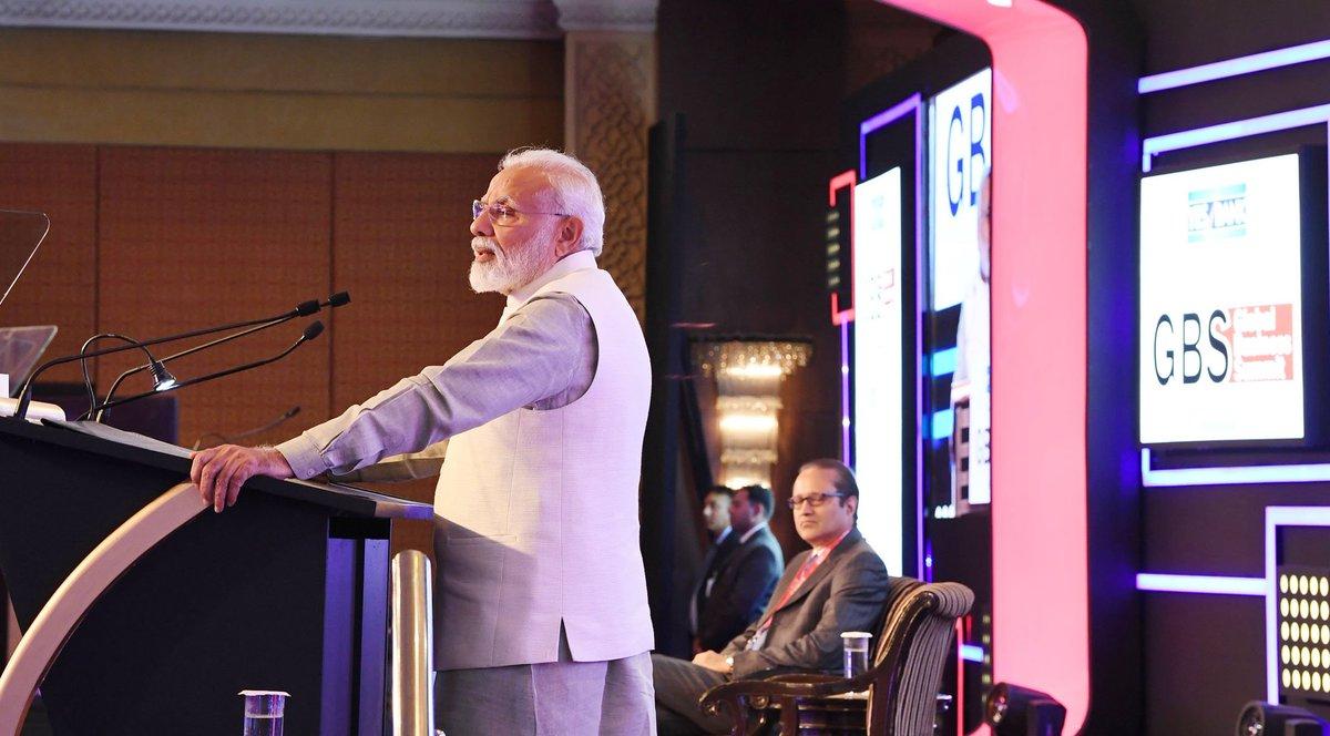 Prime Minister, Shri @narendramodi addressing at the Economic Times #GlobalBusinessSummit, in New Delhi.