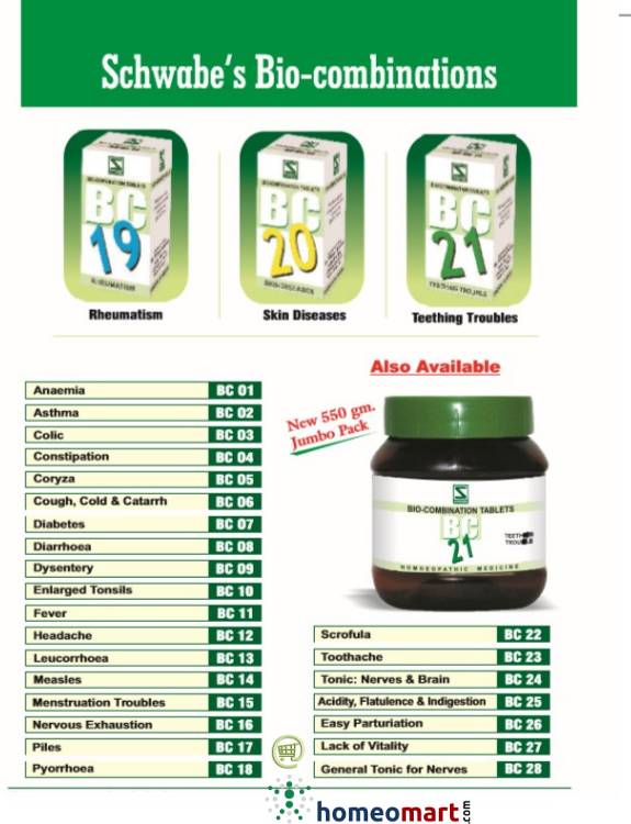 Homeopathic #biocombinations in large pack sizes  Get Dr Vashisht in