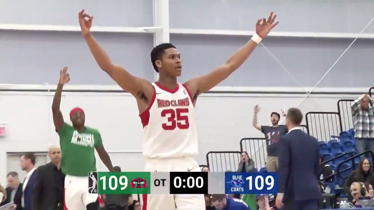 PJ Dozier (@Dozier_Kid) was 🗝️ in tonight's @maineredclaws victory 👏  The @celtics #2WayPlayer went for 20 PTS, 18 REB & 6 AST!