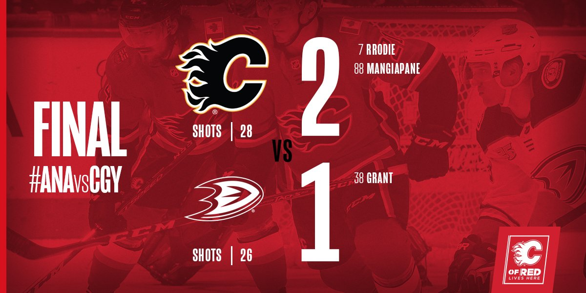 MAKE THAT FOUR STRAIGHT WINS!  #ANAvsCGY | #Flames