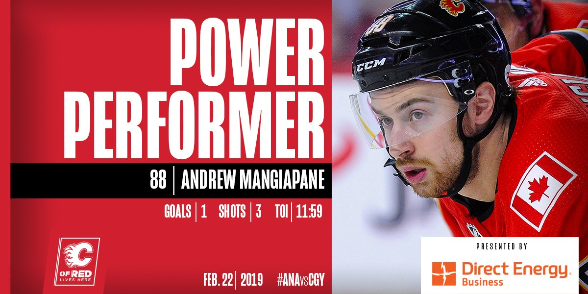 Tonight's @DEBusiness Power Performer? None other than 8⃣8⃣  #ANAvsCGY | #Flames