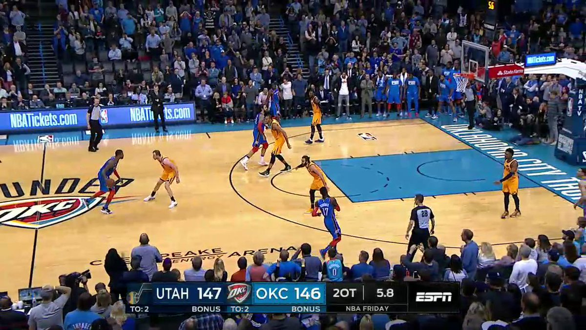 Paul George stuns Jazz with double-overtime game-winner