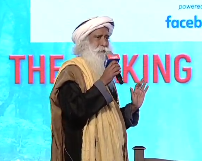 @SadhguruJV If you sit on the right track for too long, you will become a runout.  @SadhguruJV at  #ETGBS    #ForwardTogether  #LIVE Updates: https://t.co/bUqZqe4otR https://t.c