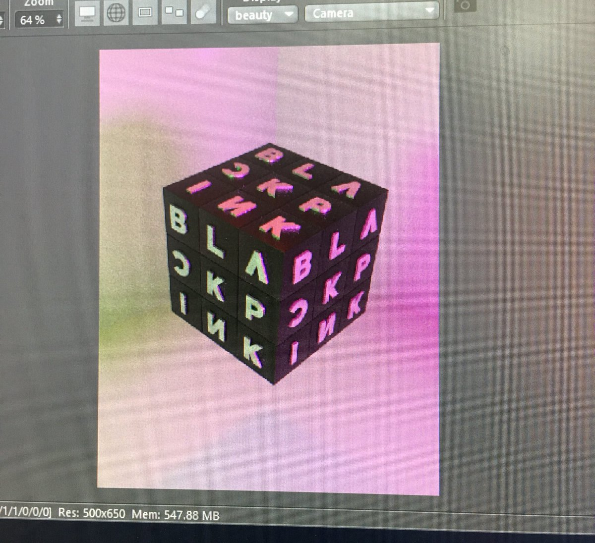 Should I post my artworks too? I just started yesterday messing around with 3D and it is ton of fun. #BLINKS<br>http://pic.twitter.com/qMGfqRPE38