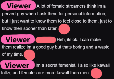 I&#39;m just.... I can&#39;t believe I witnessed this conversation on Twitch. TWITCH. IS. NOT. A. DATING. SITE!   It&#39;s not a place for you to find &quot;KAWAII FEMALE STREAMERS&quot; to ask invasive or perverted questions to either! SHOO! <br>http://pic.twitter.com/bpJyPK4bOD