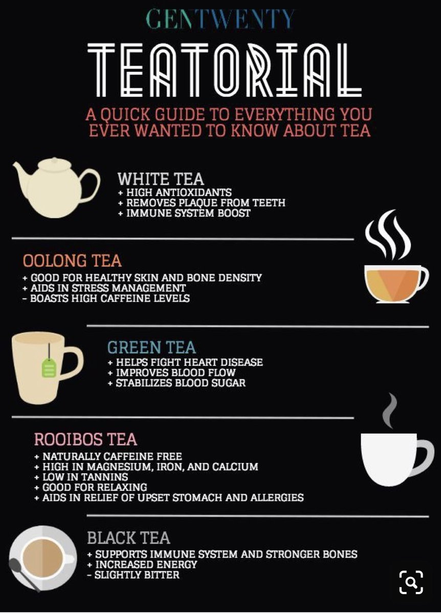 See tea benefits for some of your favorite teas! #tea #teabenefits