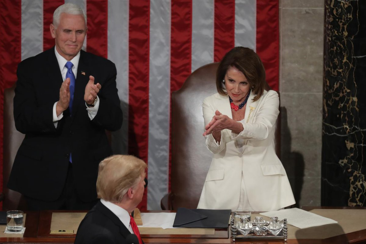 Nancy Pelosi will be the highest-ranking government official on U.S. soil for at least a few hours next week https://trib.al/uzOgeq0