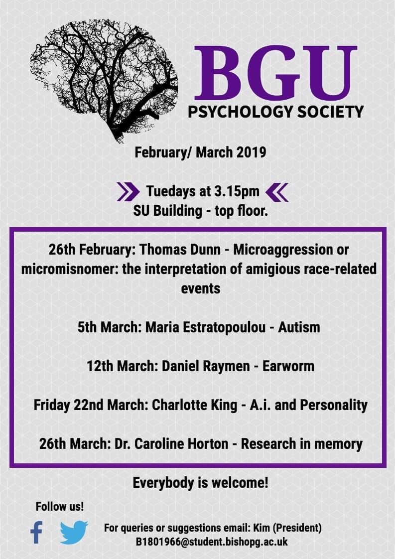 BGU Psychology Society (@BguPsychology) | Twitter
