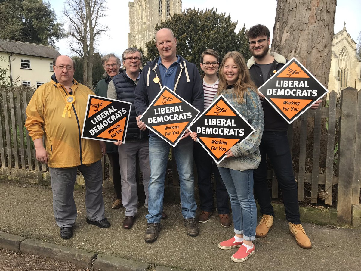Great morning campaigning with @TonyMost2 and @stevekjarvis in Ashwell as part of the @LibDems action day #demandbetter #changeyourcouncil