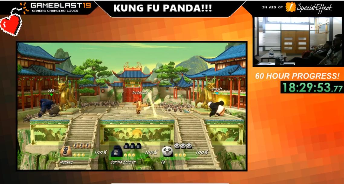 18 hours into the legendary #GameBlast19 Stream!  £136 of £500 raised already!  Love all the support from everyone!  Still going strong with Kung Fu Panda!    https://www. twitch.tv/edgehillvgs_so ciety &nbsp; …   #StreamersConnected #charity #justigivng #fundraising <br>http://pic.twitter.com/kv3HRCEBfd