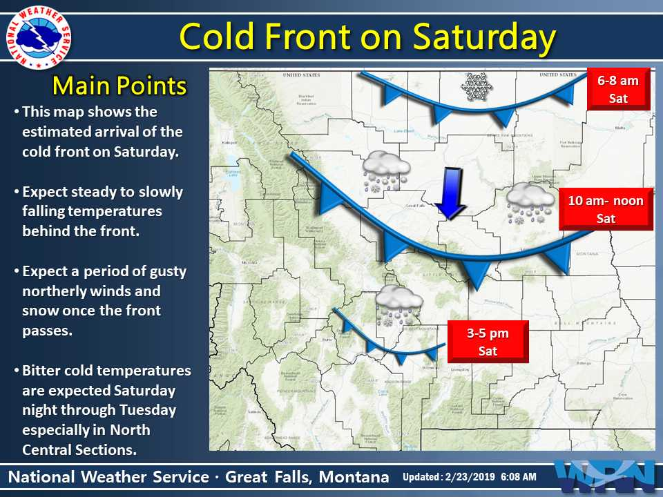 New Weather Graphic Issued: Cold Front Today. More info at https://t.co/9noRXI71Sk. #mtwx