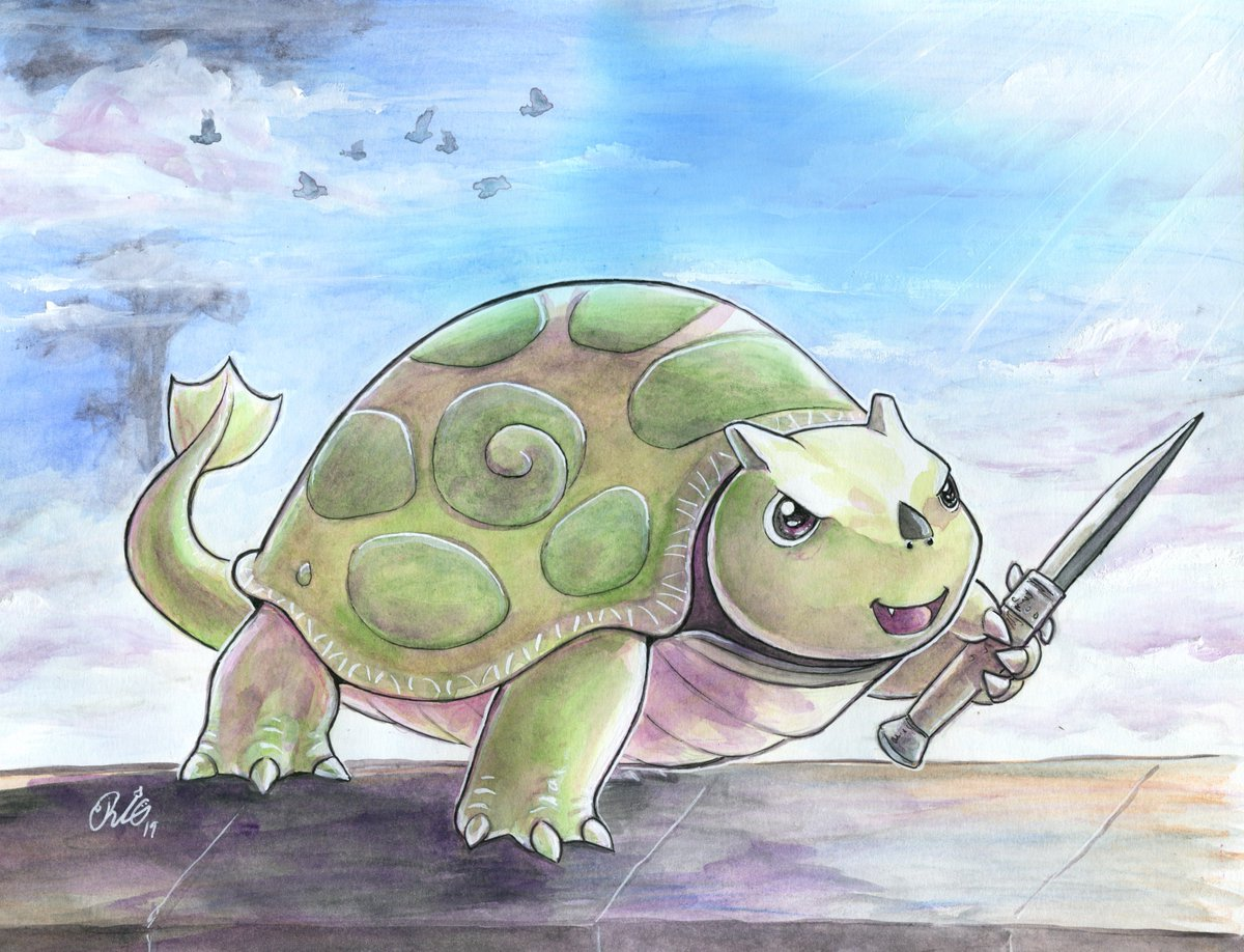 It&#39;s Saturtersday! Here&#39;s what Turters was supposed to look like according to the new artbook(sans switchblade). He&#39;s still fully capable of mayhem even if he does look dorky, imo. #XenobladeChronicles2   He&#39;s cute as heck His shell protec But watch your back He&#39;ll stab your neck<br>http://pic.twitter.com/ikX3Ir5L9U