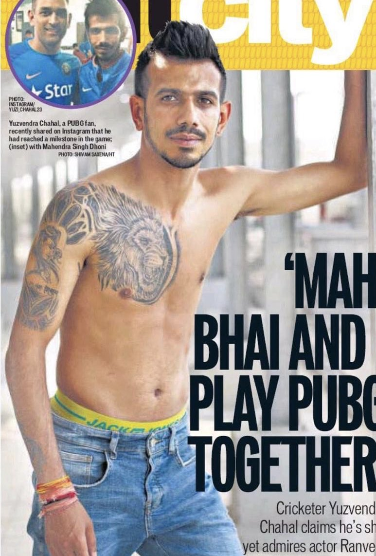 This is why we call him G.O.A.T. Those muscles can be intimidating @yuzi_chahal
