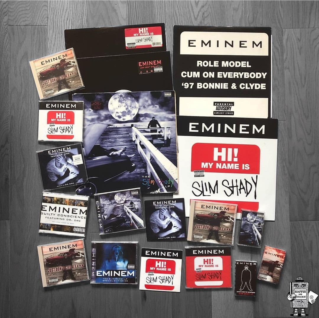 The Slim Shady LP by @Eminem was released 20y ago. The album sold 5.8 million copies in the US and over 18 million worldwide. Also won Best Rap Album on the Grammys and it&#39;s was ranked at 275th on Rolling Stones list of the 500 greatest albums of all time.  #TSSLP20thAnniversary<br>http://pic.twitter.com/WHebozuBuv