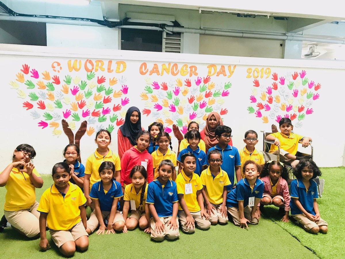 """I Am and I Will"" Cancer day was marked on Feb 4th to raise awareness among students Guest speaker MsFathmath Saeed from @undpmaldives addressed our students during assembly &amp; students wrote what they will do in order to take care of themselves. #worldcancerday2019  #iamandiwill  <br>http://pic.twitter.com/RN5NUcFeKz"