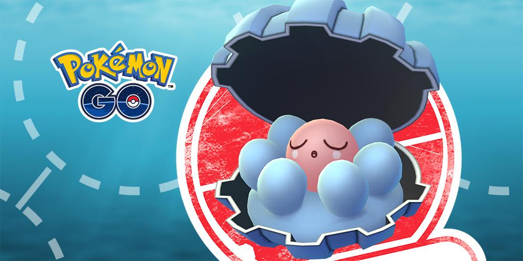 Clamperl has started appearing as a special encounter for Trainers who complete Field Research tasks! Visit this link to see when your Limited Research event begins:  https:// pokemongolive.com/post/fieldrese arch-feb2019 &nbsp; … <br>http://pic.twitter.com/qV4fxzaqBQ