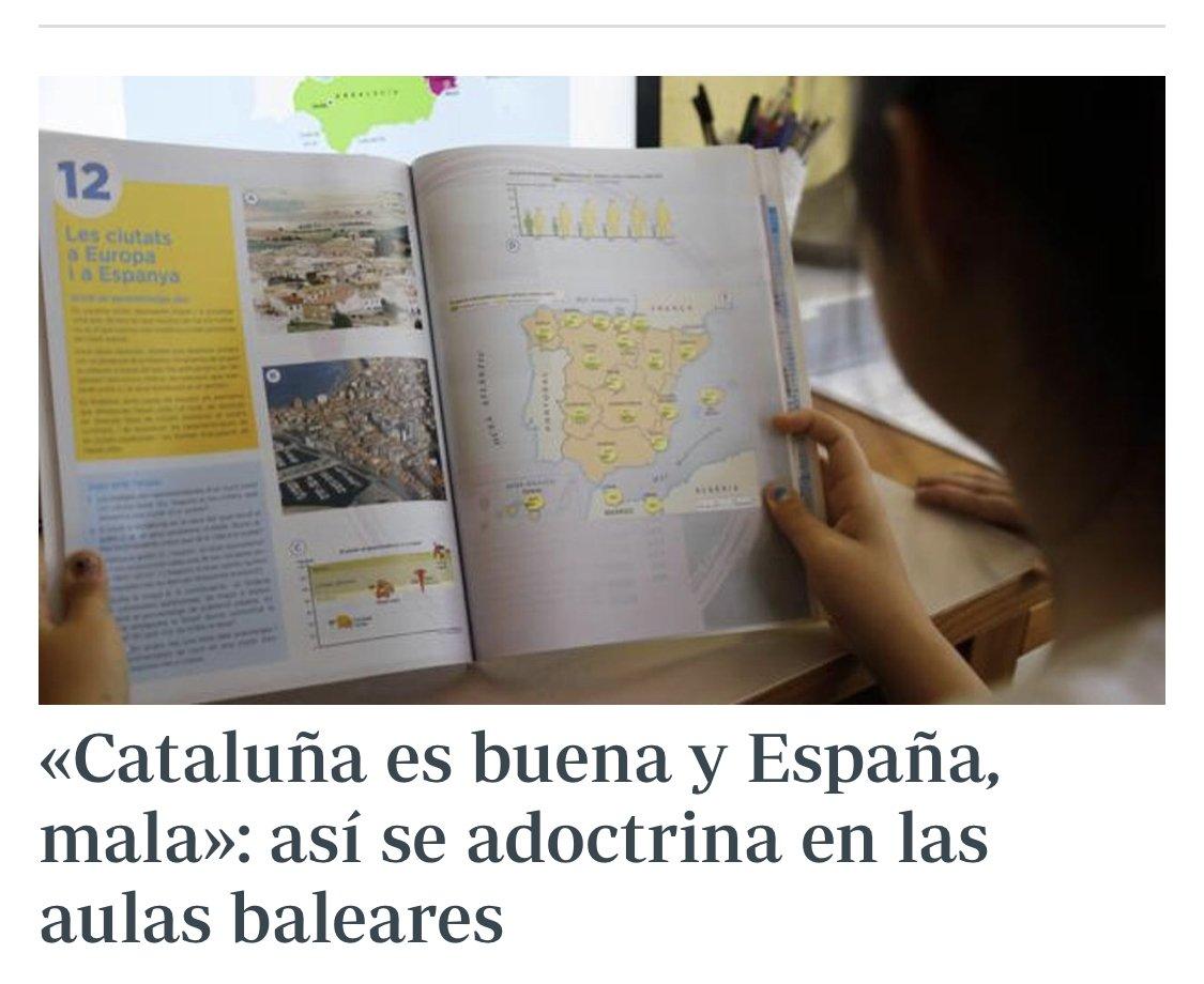 Así se educa en el odio y en la mentira en la España de Sánchez. Celaá lo niega porque su partido y su gobierno son autores y/o cómplices. Sin vergüenza .