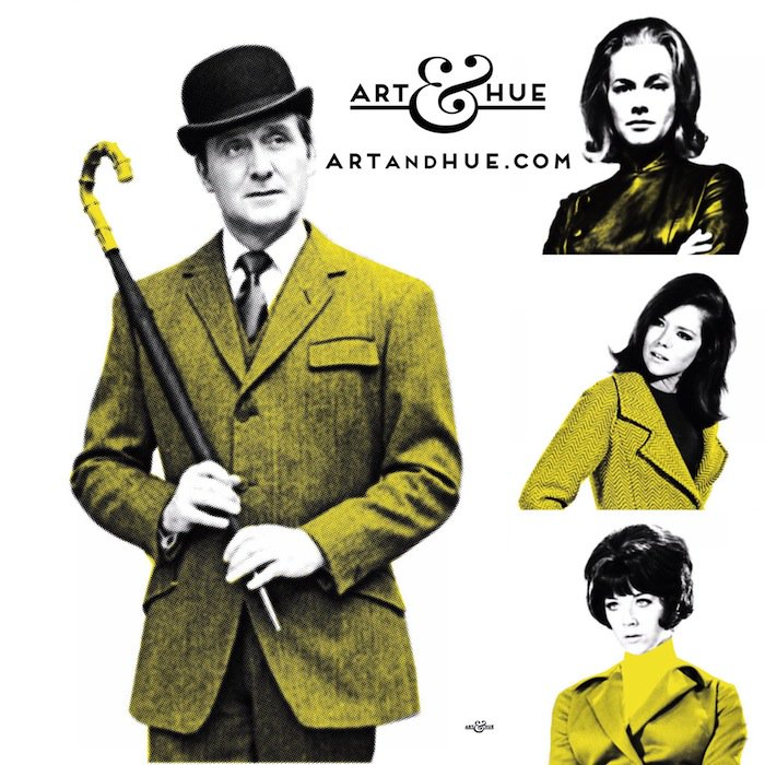 Always keep your bowler on in times of stress & watch out for diabolical masterminds. The smart & stylish Avengers by @ARTandHUE   http://artandhue.com/theavengers   #DianaRigg #EmmaPeel #JohnSteed #HonorBlackman #MrsPeelWereNeeded  #TheAvengers #LindaThorson #MrsPeel #PatrickMacnee