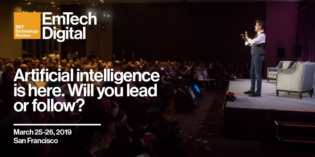 From agriculture to aerospace, AI has the potential to change every industry. Join like-minded professionals at EmTech Digital to learn how you can stay ahead. https://t.co/fsmQFRfbBE