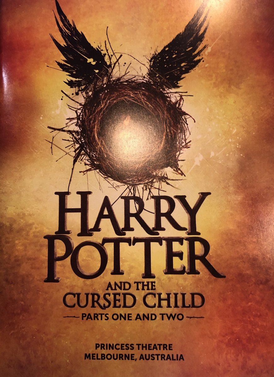 I just had the unparalleled privilege of seeing Harry Potter & the Cursed Child. It's hard to find words to describe how good it is.   Brilliant, fabulous, surprising & spectacular.   And it's only on in Melbourne. And only will be. So book a flight, book a room, book a ticket 🎫