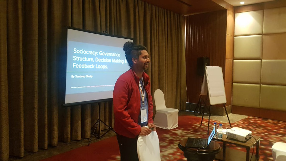 Sandeep Shetty from Experimental Consulting is talking on &quot;Sociocracy: Governance, Decision Making &amp; Feedback loops&quot; at #Agilitytoday #Agility<br>http://pic.twitter.com/Cd3VpC3lVH