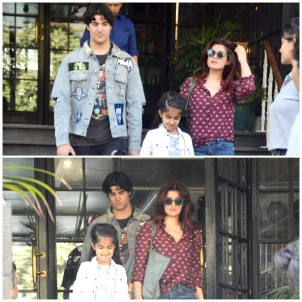 Children's day out! Twinkle Khanna takes kids Aarav and Nitara on a lunch date - view HQ pics