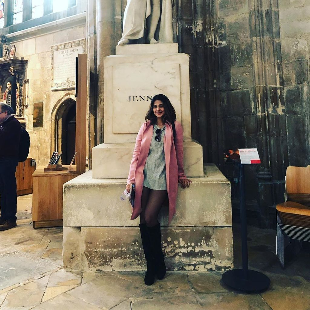 Bepannaah's Jennifer Winget visits the Gloucester Cathedral and the Potter Head in her can't keep CALM