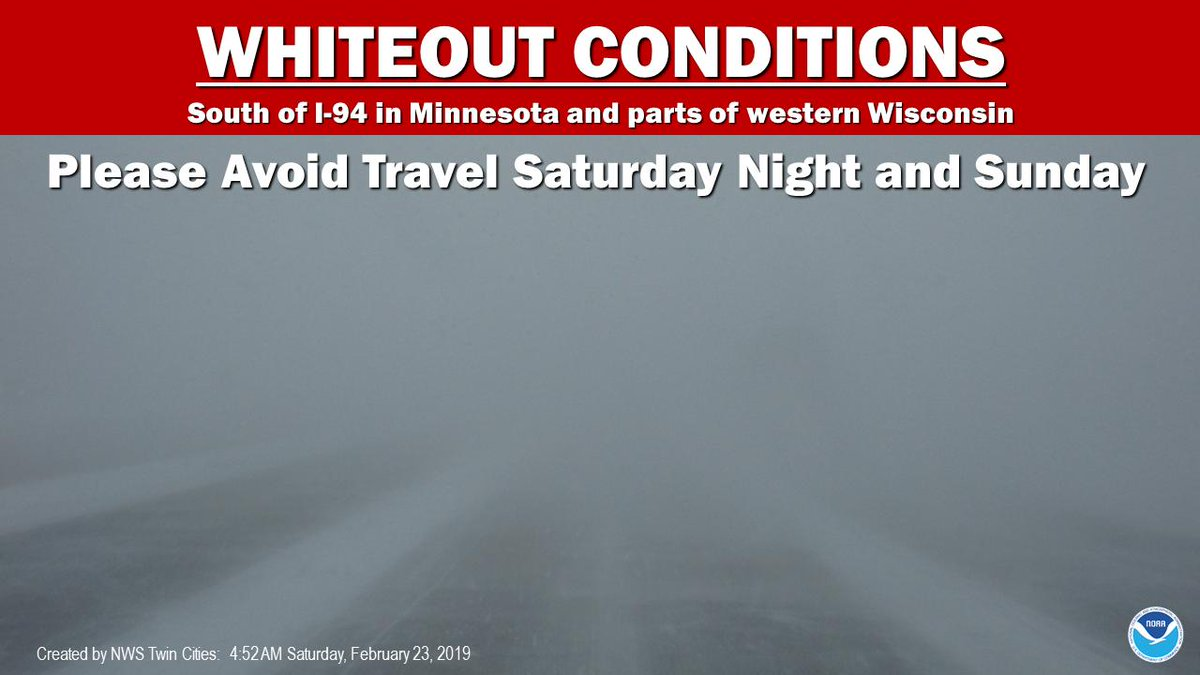 It&#39;s been a while since we&#39;ve seen a winter storm with winds this strong. Please stay off the roads tonight. If you must travel, bring warm clothes, a charged cell phone, and tell someone where you&#39;re going and when you arrive #mnwx #wiwx<br>http://pic.twitter.com/9igICyKgPz