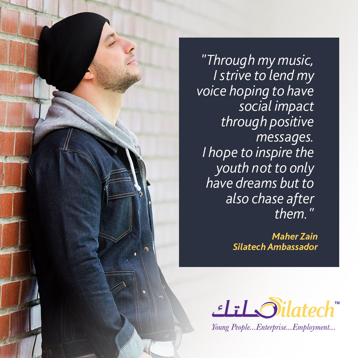 I hope to inspire the youth not to only have dreams but to also chase after them. #Youth #dreams   @Silatech