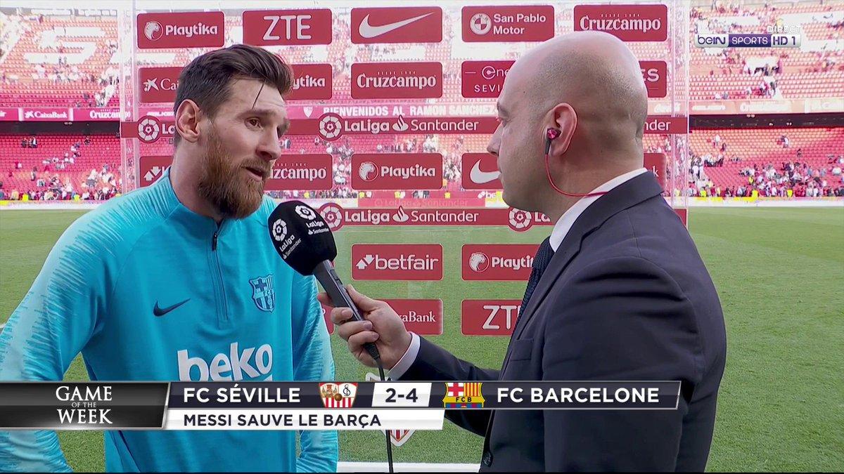 """⚽️ #GameOfTheWeek 🗨️ Lionel Messi : """"Quand le jeu est fluide ça vient tout seul !"""""""