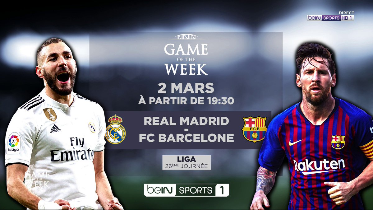 🗓️ RDV la semaine prochaine pour un nouveau #GameOfTheWeek 👉 Real Madrid - FC Barcelone 🔥🔥🔥 #Clasico #RMAFCB