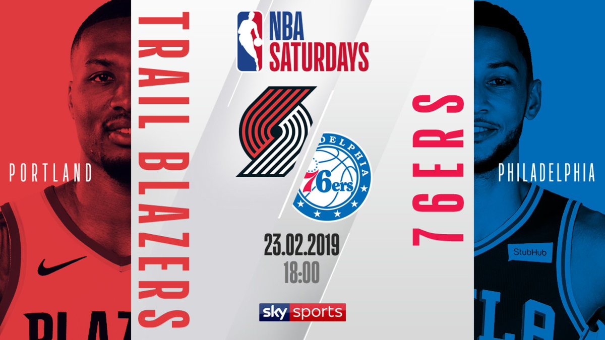 🏀FREE LIVE STREAM 🏀 @BenSimmons25 and the @sixers host @Dame_Lillard and the @trailblazers - tip-off 6pm #heretheycome #ripcity #nba   📲WATCH FOR FREE - http://skysports.tv/IVQ6uA